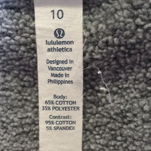 lululemon athletica Jackets & Coats - Lululemon gray zip up sweat jacket sz 8 58502